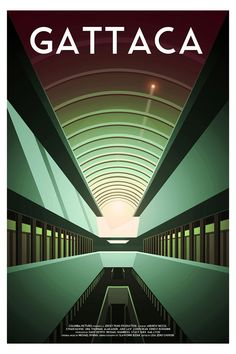 """Gattaca alternative movie poster by Cody Bond Movie Synopsis: """"A genetically inferior man assumes the identity of a superior one in order to pursue his lifelong dream of space travel."""" More Cody Bond AMPs: Cody Bond Artists Website: https://www.etsy.com/uk/shop/CodyLeighBond"""