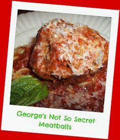 """FoodThoughtsOfaChefWannabe: George says, """"My meatballs are better than hers"""". Really?"""