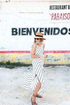 #summer #stripe #slit #dress: @roressclothes closet ideas #women fashion outfit #clothing style apparel