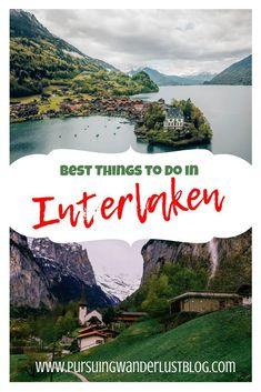 Don't miss this guide to the top things to do in Interlaken Best Places In Switzerland, Switzerland Cities, Visit Switzerland, Switzerland Interlaken, Travel Images, Travel Pictures, Stuff To Do, Things To Do, Lake Thun