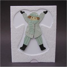 Snow Angel Pull Tab Card...by cornerstonelae,