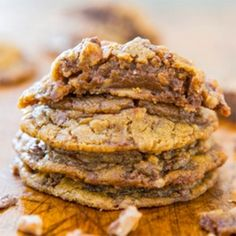 Soft and Chewy Toffee and Milk Chocolate Peanut Butter Cookies