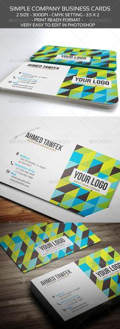 colorful corporate business card design - #graphic #design