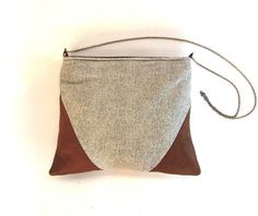Love this purse! leather and designer cotton handbag shoulder bag by willowandmuse, $67.00