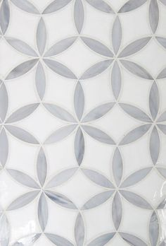 Kaleidoscope Glass Floral Ellipse Tile