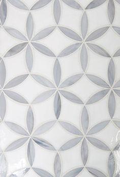 Kaleidoscope Glass Floral Ellipse Tile, master bath floor?