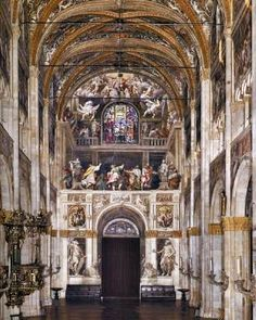 GAMBARA, Lattanzio (b. 1530, Brescia, d. 1574, Brescia)   Click! Ascension of Christ  1571-73 Fresco Cathedral, Parma  Gambara's Ascension of Christ is painted on the entry façade of the cathedral of Parma.  In the Renaissance period the decoration of the church is frequently focused on the apse and the entrance wall. These terminal walls of extended interior spaces are visible from a great distance, catching visitors' attention.