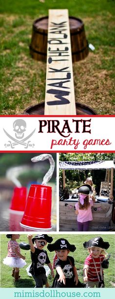 Pirate Party: Set sail with Pirate Party Game Ideas! Looking for some pirate party game ideas? Here are some fun and festive activities for your little buccaneer. Need more pirate party inspiration? Check out all out Pirate Party Ideas. via ideas Boy Party Games, Pirate Party Games, Pirate Party Decorations, Indoor Party Games, Pirate Activities, Birthday Party Games, Fun Activities, Birthday Board, Disney Party Games