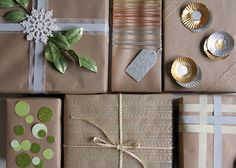 DIY Anthropologie inspired gift wrap--this is so something my mom would do she's over the top.