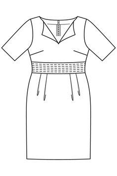 Sukienka z tulipan spódnica - numer wzorca 131 Magazine 7/2016 Burda - wzory na sukienkach Burdastyle.ru