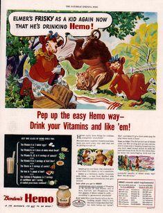 Retro Advertising, Vintage Advertisements, Vintage Ads, Elsie The Cow, White Bean, Bean Soup, Childhood Memories, Greek, Milk