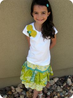 The Life of a Cheap Chickadee: The Ruffled Skirt {cheater} Tutorial