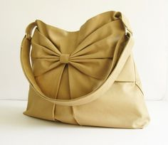 Sale  Khaki Canvas Bag purse tote messenger bag hobo by tippythai, $35.00