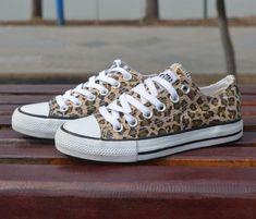 """Converse"" Fashion Leopard Canvas Flats Sneakers Sport Shoes"