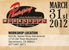The Line Doctor, Herb Martinez, will be in Sacramento, CA March 31, 2012