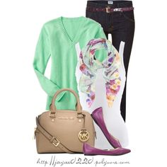 """""""Mint, White and Purple"""", created by jaycee0220 on Polyvore"""