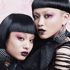 Aya Sato and Bambi are a dancing choreography and modeling duo from Japan. They are known for their industrial goth and Japanese geisha style.