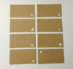 Set of 25 Rectangle Gift Tag Die Cuts - Kraft Cardstock DIY Gift Tags - Perfect wedding favours, gift tags, note & escort cards. $5.00, via Etsy.
