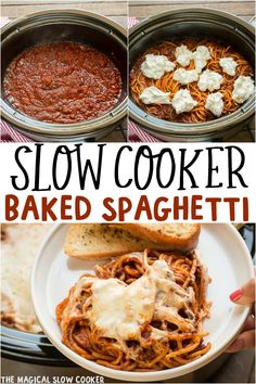 Slow Cooker Baked Spaghetti Casserole will make pasta night spectacular! – The Magical Slow Cooker Slow Cooker Baked Spaghetti Casserole will make pasta night spectacular! – The Magical Slow Cooker Crockpot Baked Spaghetti, Baked Spaghetti Casserole, Slow Cooker Spaghetti, Slow Cooker Pasta, Baked Ziti, Crock Pot Spaghetti, Slow Cooker Casserole, Slower Cooker, Slow Cooker Lasagna