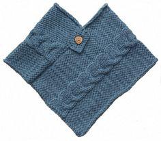 Poncho bébé - Modèle gratuit à télécharger sur Les Tricots de Cecile - rayon layette