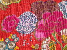 Indian Kantha Quilt housewarming  Hand Quilted Bed by Artisanabay, €34.99