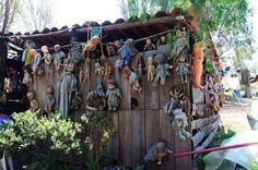 The Island Of The Dolls (Isla de las Muñecas), located in the vast network of canals that lies to the south of Mexico City, near Xochimilco is one of the creepiest tourist attraction in Mexico. Here, among the branches and dead trees hang hundreds of old, mutilated dolls.