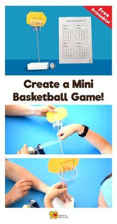 Mini basketball game DIY