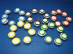 Olympic themed cupcakes.  #birthday