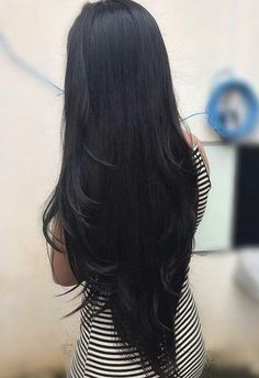 Human Hair Bundles Lace Closure Non Remy Hair Weft Brazilian Straight Hair Weave 3 Bundles With Closure. Are you looking for long black straight hairstyles? See our collection full of long black straight hairstyles and get inspired! Long Hair Wigs, Real Hair Wigs, Short Wigs, Curly Wigs, Long Black Hair, Dark Hair, Black Colored Hair, Long Asian Hair, Blue Hair