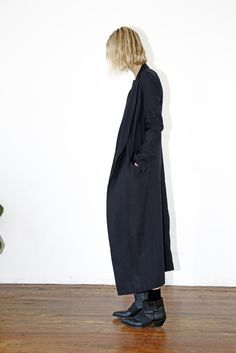 Black Long Collar Coat