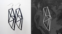 """Meshu lets you map your travels using their website tool """"Facet"""". Once you input all your previous (or most favorite) destinations, the tool creates a map that can be turned into necklaces, earrings, bracelets or rings made from a variety of materials."""