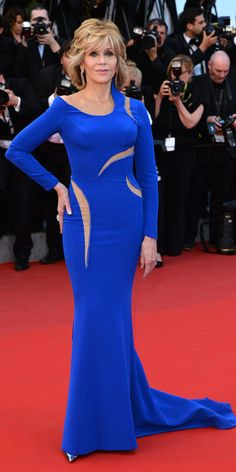 Jane Fonda's Red Carpet Style - In Atelier Versace, 2015  - from InStyle.com
