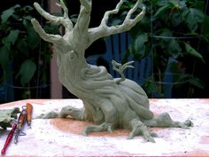 tree sculpture WIP back by RandyHand on deviantART