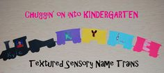 Textured Name Trains for Preschool or Kindergarten! | The Preschool Toolbox Blog
