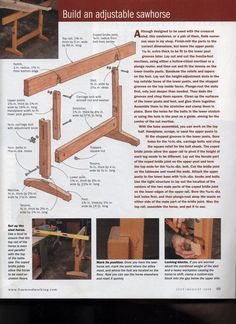 Adjustable Sawhorse 2 - by Lori @ LumberJocks.com ~ woodworking community