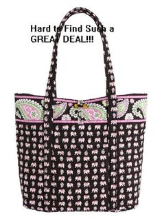 Women's Top-Handle Handbags - Vera Bradley Vera Pink Elephants *** Check out the image by visiting the link.