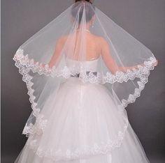 Intermission length wedding veil