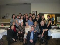 This was taken at the luncheon from Tio Charlie's funeral. All of the Tia's are sitting in front