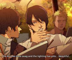 yusuke is a living meme pass it on Persona Five, Persona 5 Memes, Cry Anime, Anime Art, Otaku, Shin Megami Tensei Persona, Akira Kurusu, Girls Anime, Fandoms