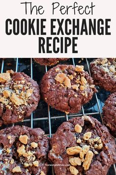 This is the PERFECT cookie exchange recipe. While not a traditional Christmas cookie - so you don't have to worry about duplicates - this chocolatey cookie is soft and chewy with plenty of dark chocolate flavor everyone loves. These are fast to make, so you can make a double batch if you need to, and everyone loves the fun taste of s'mores with the marshmallows baked right in and graham cracker on top! Traditional Christmas Cookies, Best Christmas Cookies, Best Chocolate Desserts, Dark Chocolate Cookies, Delicious Cookie Recipes, Easy Recipes, Yummy Food, Bar Cookies, Yummy Cookies