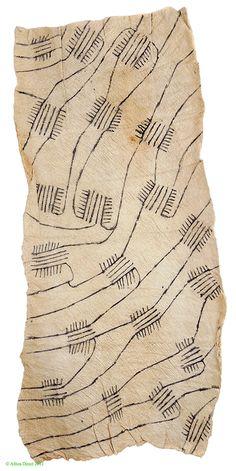 Pygmy/Mbuti Barkcloth from Ituri Rainforest, DR Congo