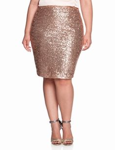 Sequin Pencil Skirt for Holiday Dressing, Women's Size 14-24W ((BUCKET LIST!!!!)