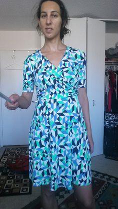 Lin Faux Wrap Jersey Dress