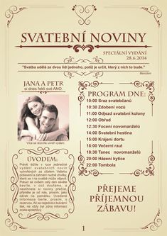 svatební noviny - Hledat Googlem Craft Wedding, Diy Wedding, Rustic Wedding, Wedding Decorations, Wedding Day, Wedding News, Wedding Scrapbook, Gray Weddings, Wedding Invitations