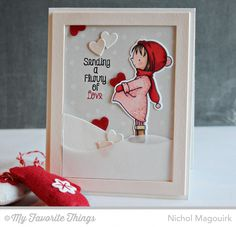 Card by Nichol Spohr Magouirk (121214) https://www.youtube.com/watch?v=z8Xr9AFddME [My Favorite Things (dies) Die-namics Mason Jar, Rectangle Frames, Snow Drifts; (stamps) BG Confetti Background, BB Warmest Wishes]