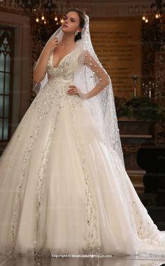 Empire Waist Silhouette Bridal Ball Gown