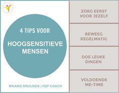 4 tips voor hoogsensitieve mensen. #hsp #hoogsensitief #hooggevoelig #hspcoach #sensitief #hsptip Infj Mbti, Introvert, Auditory Processing Disorder, How To Get Better, Me Time, Self Compassion, Stress Less, Highly Sensitive, Bpd