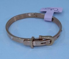 Cartier style stainless steel belt bracelet : Cellucci Jewellery collection♡♡