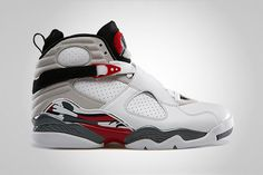 Air Jordan 8 white/true red