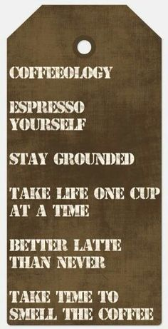 Coffeeisms